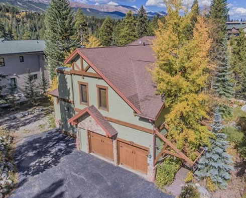 Beautiful summer shot of 5 Riverwood Drive in Breckenridge, CO.